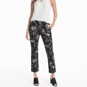 White House Black Market Floral Printed Crop Pants